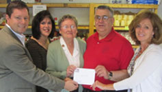 Chamber members presenting check to Food Bank